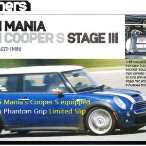 Mini Cooper S Limited Slip LSD Mania